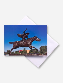 Texas Tech Masked Rider Statue Photo Card