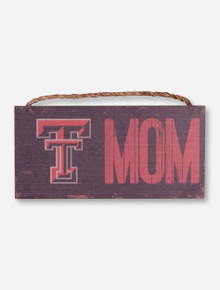 Texas Tech Mom Wood Sign