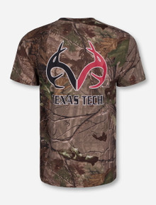 Texas Tech RealTree Antlers on Camo T-Shirt