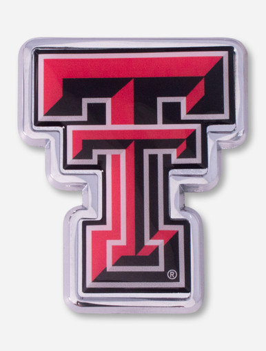 Texas Tech Red Raiders Full Color Double T Car Emblem