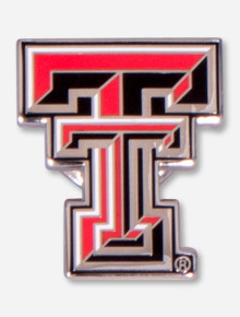 Texas Tech Full Color Double T Lapel Pin