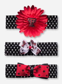 Texas Tech Crocheted Headbands with Interchangable Bows