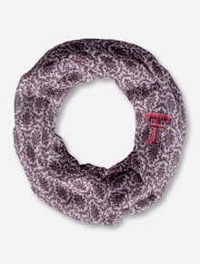 Double T on Damask Pattern Infinity Scarf