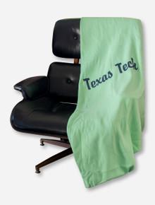 MV Sport Black Texas Tech Script on Mint Sweatshirt Blanket