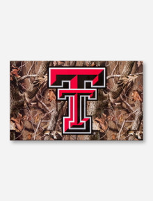 Texas Tech Double T on Camo 3' x 5' Flag