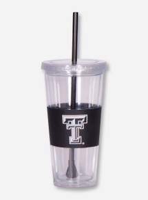 Texas Tech Acrylic Tumbler with Double T Grip and Straw