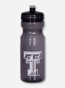 Texas Tech Double T Translucent Charcoal Squeeze Bottle