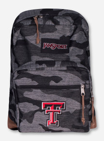 Jansport Texas Tech Double T Camo Pattern Backpack with Suede Trim