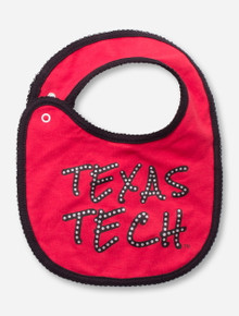 Texas Tech Dotted Red Ribbed Bib