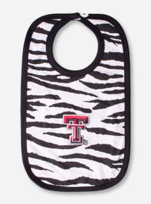 Texas Tech Double T Zebra Print Bib