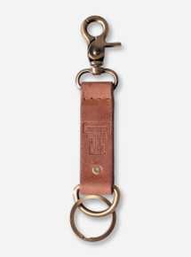 "Texas Tech Double T ""Westbridge"" Leather Keychain"
