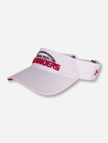 "Under Armour Texas Tech ""Game Plan"" White Visor"