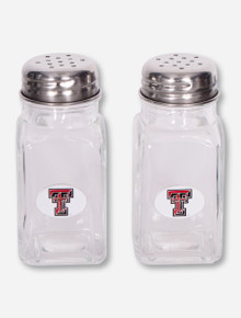 Texas Tech Double T Glass Salt and Pepper Shakers