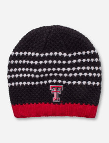 The Game Texas Tech Double T on Diamond Pattern Knit Beanie