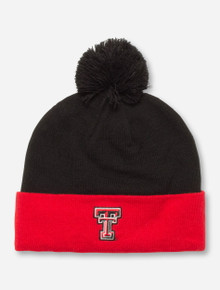 "Under Armour Texas Tech ""Avalanche"" Black and Red Beanie"
