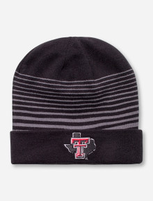 "Under Armour Texas Tech ""Traverse"" Black and Grey Beanie"