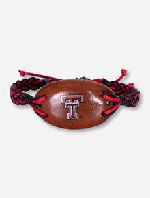 Dayna U Texas Tech Double T on Wood Braided Bracelet