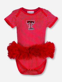 Texas Tech Double T Red and White Polka Dot INFANT Dress One Piece