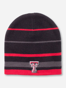 The Game Texas Tech Double T on Multi Color Stripe Beanie