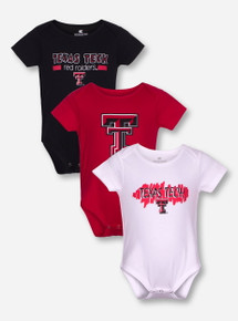 Arena Texas Tech Set of 3 INFANT Onesies