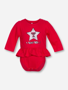 Arena Texas Tech Day Dreamer INFANT Red Peplum Onesie