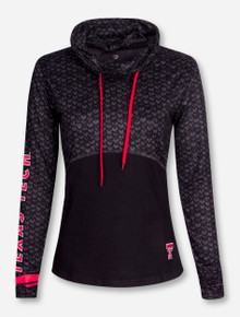 "Arena Texas Tech ""Scaled"" Women's Cowl Neck Pullover"