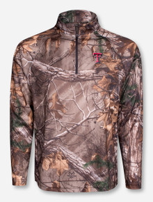 "Arena Texas Tech ""Decoy"" RealTree Camo Half Zip Pullover"