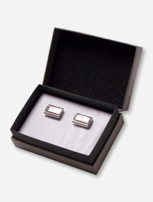 Texas Tech Double T on Brushed Metal Cuff Links