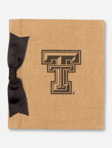 Texas Tech Double T & Black Ribbon on Sisal Photo Album
