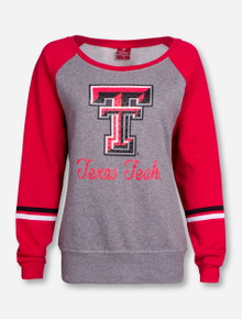 "Arena Texas Tech ""Ariel"" Women's Boatneck Sweatshirt"