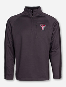 "Arena Texas Tech ""Defender"" Charcoal Quarter Zip Pullover"