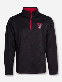 "Arena Texas Tech ""Sleet Embossed"" Black Quarter Zip Pullover COFZ10544"