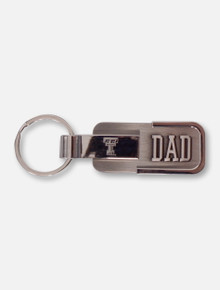 Texas Tech Dad Metal Engraved Keychain