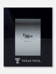 Laser Engraved Double T & Texas Tech on Black Frame
