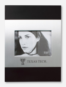 Laser Engraved Texas Tech Wood & Silver Frame