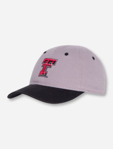 The Game Texas Tech Double T on INFANT Grey and Black Stretch Fit Cap
