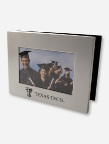 Laser Etched Double T & Texas Tech on Brushed Metal Photo Album