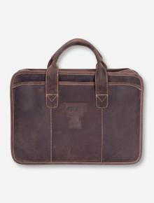 Texas Tech Buffalo Valley Dark Brown Leather Briefcase