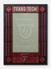 Texas Tech & Double T Art Glass Vertical Red & Black Frame