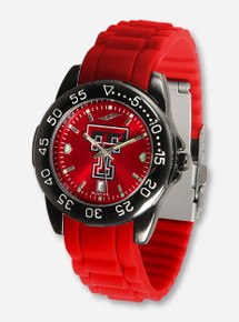 Texas Tech Fantom Sport AnoChrome Rubber Wristband Watch