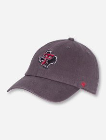 "47 Brand Texas Tech ""Clean Up"" Lone Star Pride on YOUTH Charcoal Adjustable Cap"