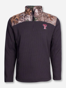 "Arena Texas Tech ""Buckshot"" RealTree Camo and Charcoal Quarter Zip Pullover"