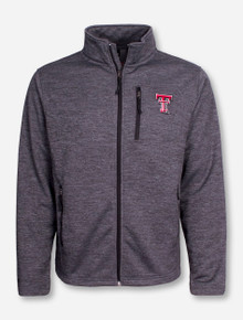 "Arena Texas Tech ""Backfield"" Heather Charcoal Full Zip Jacket"