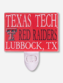 Texas Tech Red Raiders Glass Night Light