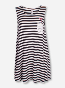 "Bamboa Texas Tech ""Shark Bite"" Striped Dress"