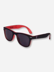 Texas Tech Red and Black Full Folding Sunglasses
