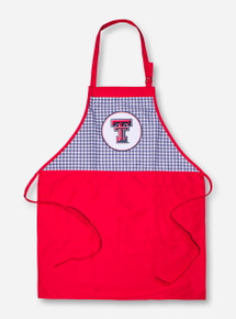 Texas Tech Double T on Checkered and Red Apron