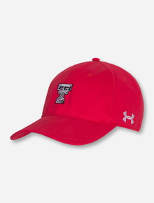 Under Armour Texas Tech Mini Black and White Double T on Red Adjustable Cap