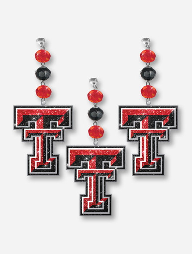Texas Tech Red Raiders Glimmer Double T Clip On Charms