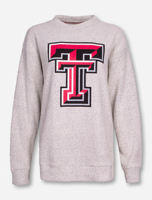 Pressbox Aspen Threads Texas Tech Double T Women's Cream Sweater
